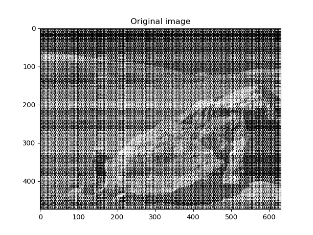 Image denoising by FFT — Scipy lecture notes